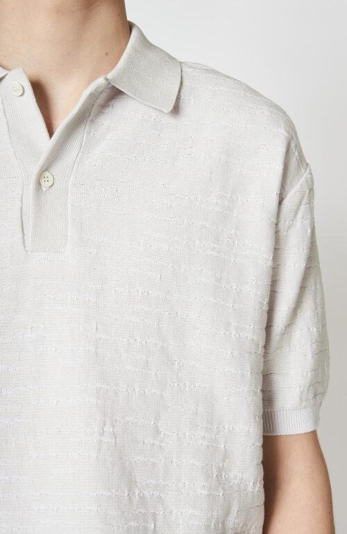 """Weißes Strick-Polo """"Canasta"""" aus Baumwolle"""