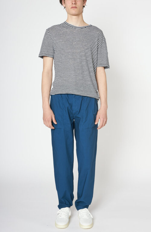 "Cobalt-blaue Hose ""Postcard"" aus Baumwolle"