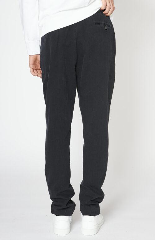 """Schwarz-graue Hose """"Drew"""" aus Baumwolle"""