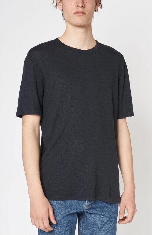 Dunkelblaues T-Shirt aus Leinen