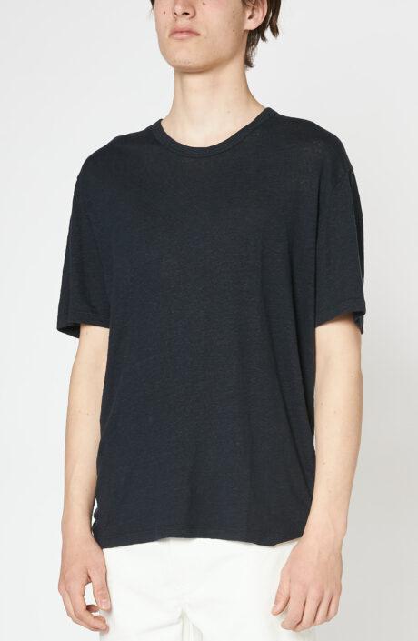 """Schwarzes T-Shirt """"Emile"""" aus Leinen"""