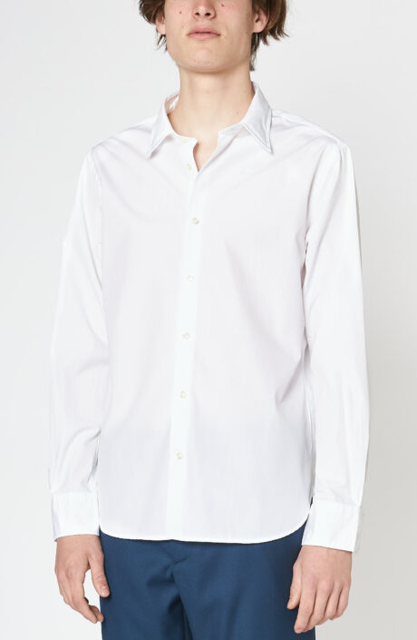 "Weißes Hemd ""Giacomo"" aus Baumwoll Popeline"