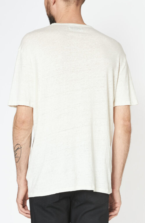 Weißes T-Shirt aus Leinen