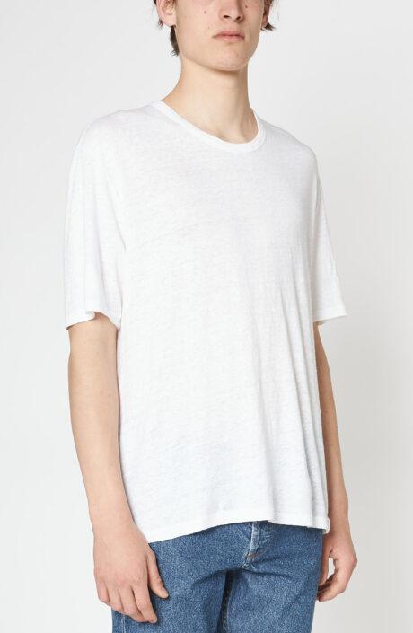 """Weißes T-Shirt """"Emile"""" aus Leinen"""