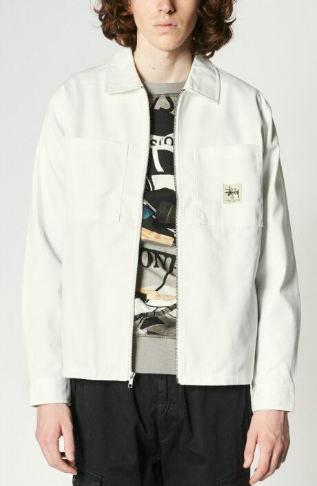 "Weiße Hemdjacke ""Zip Up Work Shirt"""