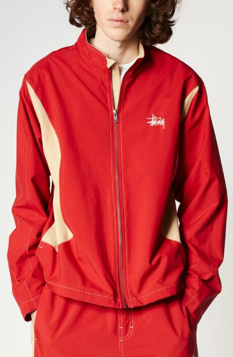 """Rote Trainingsjacke """"Panel Track Jacket"""""""