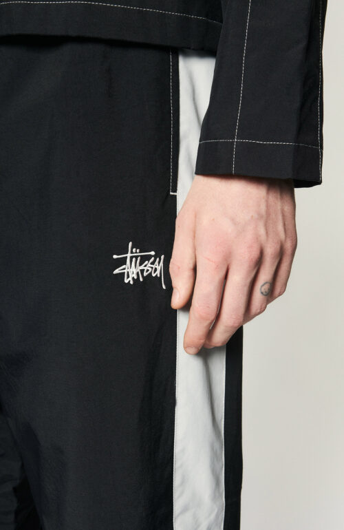 """Schwarze Trainingshose """"Panel Track Pant"""" aus Nylon"""