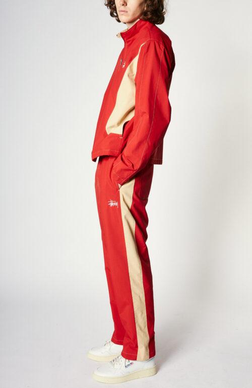 "Rote Trainingshose ""Panel Track Pant"" aus Nylon"