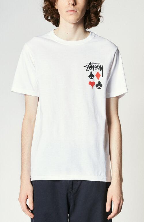 """Weißes T-Shirt mit Prinz """"Full Deck 2"""""""