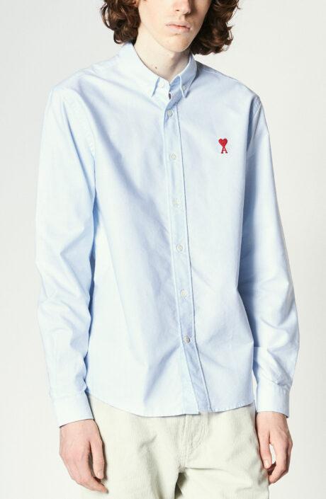 Blaues Oxford-Hemd mit Button-Down Kragen
