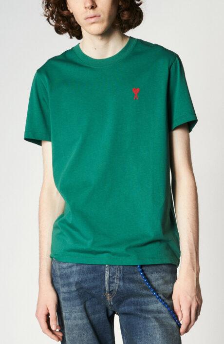 "Grünes T-Shirt mit rotem ""Ami de Coeur""-Logo"