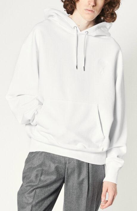 """Weißer Sweater """"Ami de Coeur"""" mit Kapuze"""