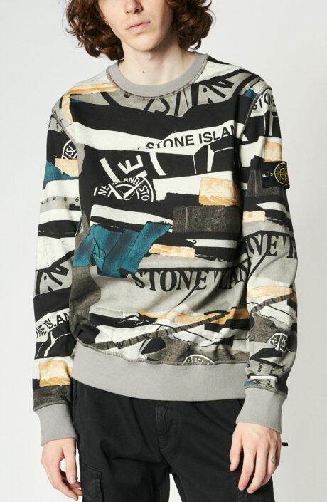 "Graues Sweatshirt ""63087"" mit Print"