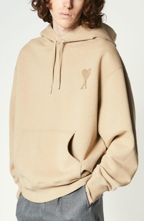 """Kapuzen-Sweatshirt mit rotem """"Ami de Coeur""""-Logo in beige"""