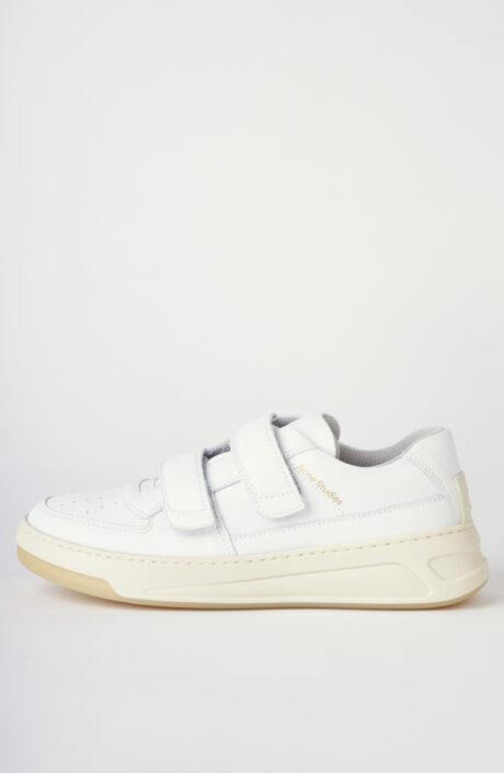 """Kalbsleder-Sneakers """"Steffey"""" in Weiß/Creme"""