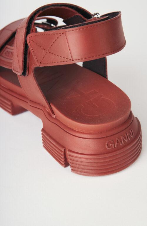 """Gummi-Sandalen """"Madder"""" in Braun"""
