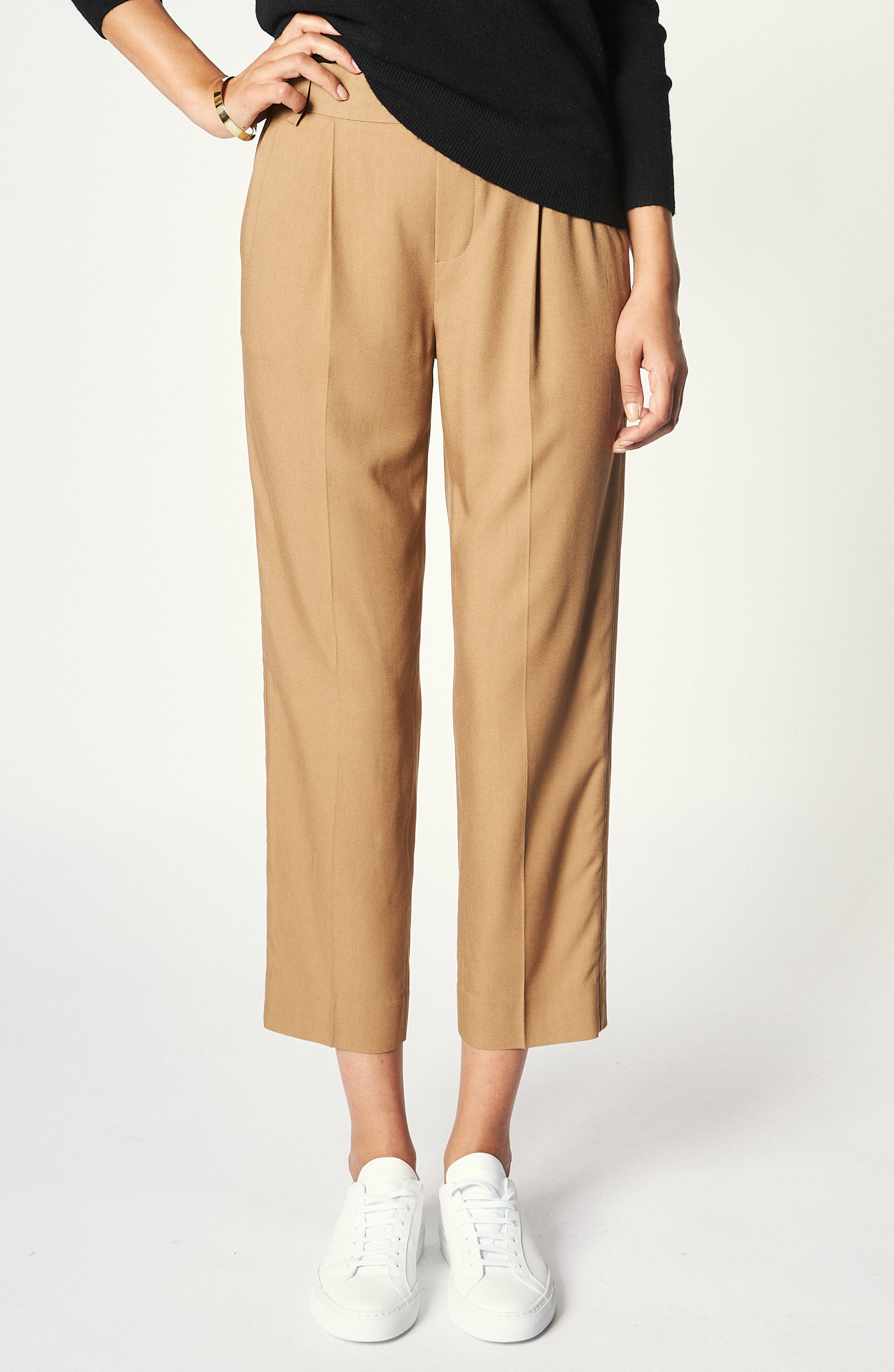 """Hose """"Casual Pull on pant"""" in Braun"""