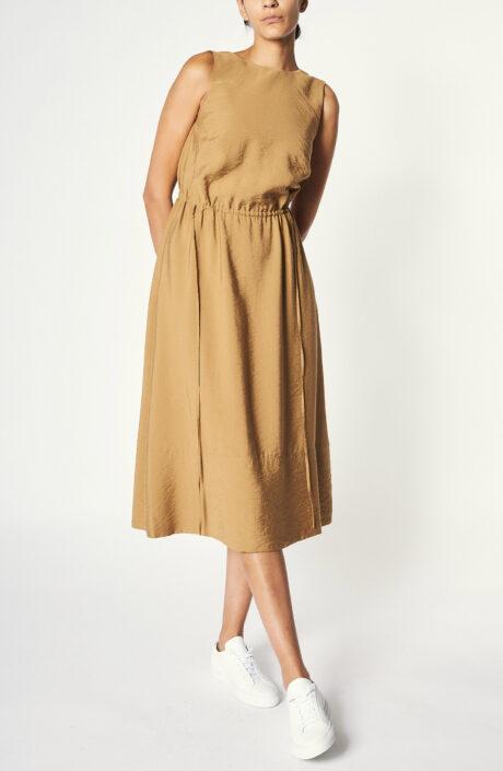 """Kleid """"Sleeveless Cross Back Dress"""" inBraun"""
