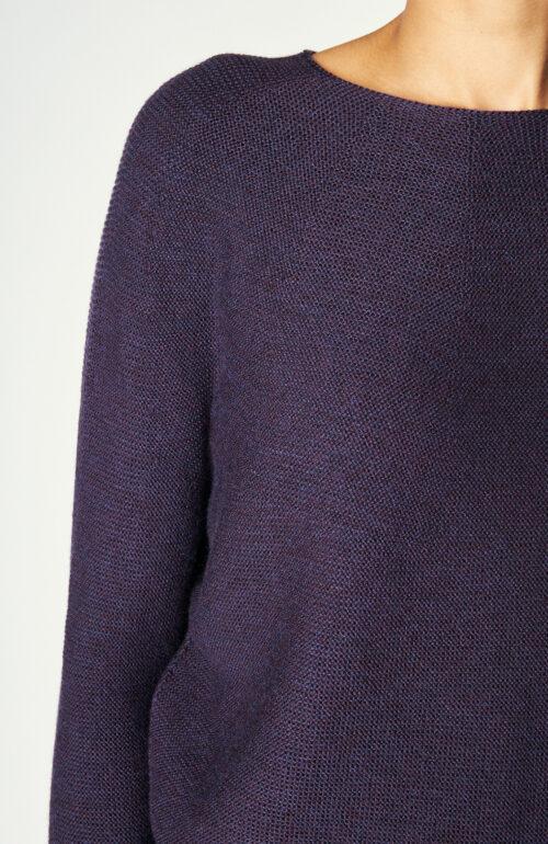 "Auberginefarbener Pullover ""Kopa"" aus Wolle"