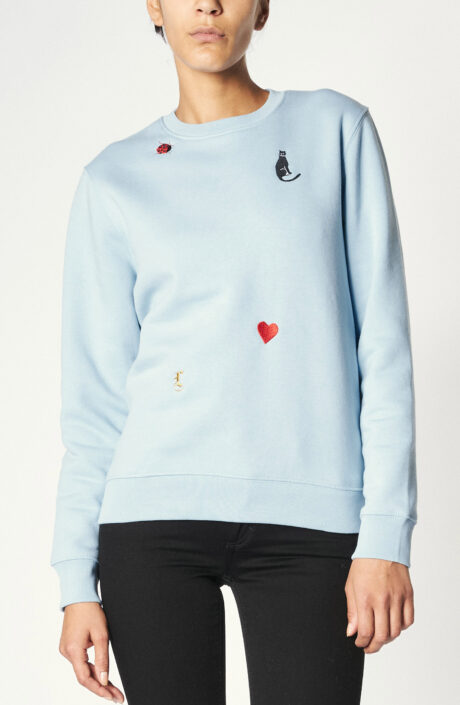 """Sweater """"Charms"""" in Himmelblau"""