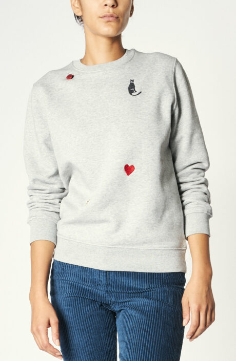 "Sweater ""Charms"" in Grau"