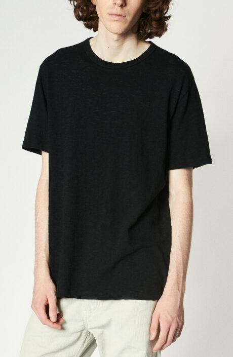 Schwarzes T-Shirt aus Baumwolle