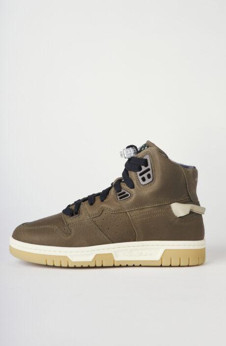 """Braune High-Top Sneakers """"Buxeda"""" aus Leder"""