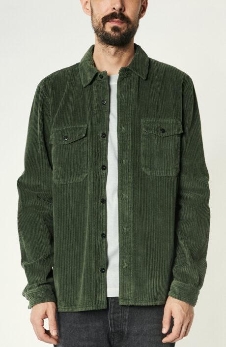 """Grünes Overshirt """"12111"""" aus Cord"""