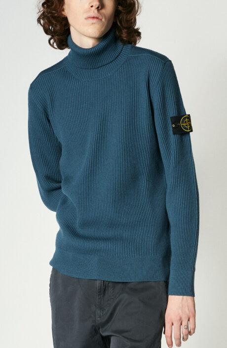 """Kobaltblauer Pullover """"525C2"""" mit Rollkragen"""