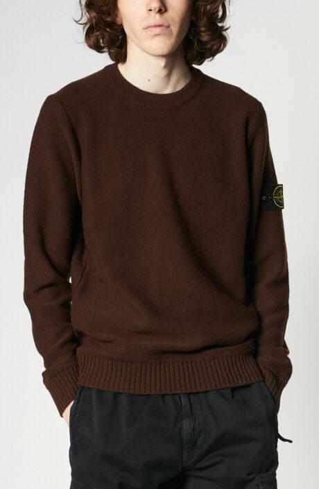 """Brauner Pullover """"577B6"""" aus Geelong- Wolle"""