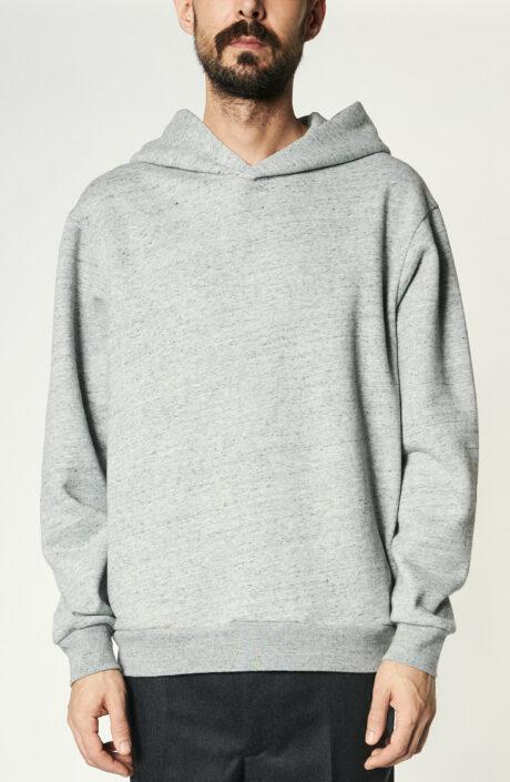 Grau melierter Hoodie aus Baumwollgemisch