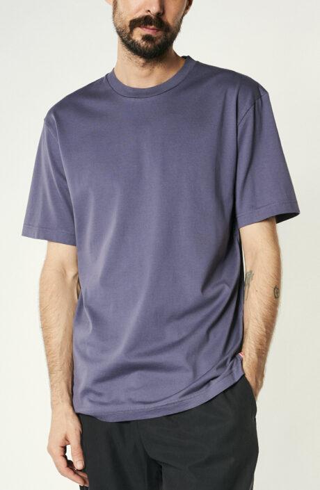 Lilfarbenes T-Shirt aus Baumwolle