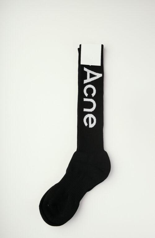Schwarze Socken mit Logo