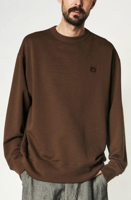 Dunkelbrauner Sweater aus Baumwolle