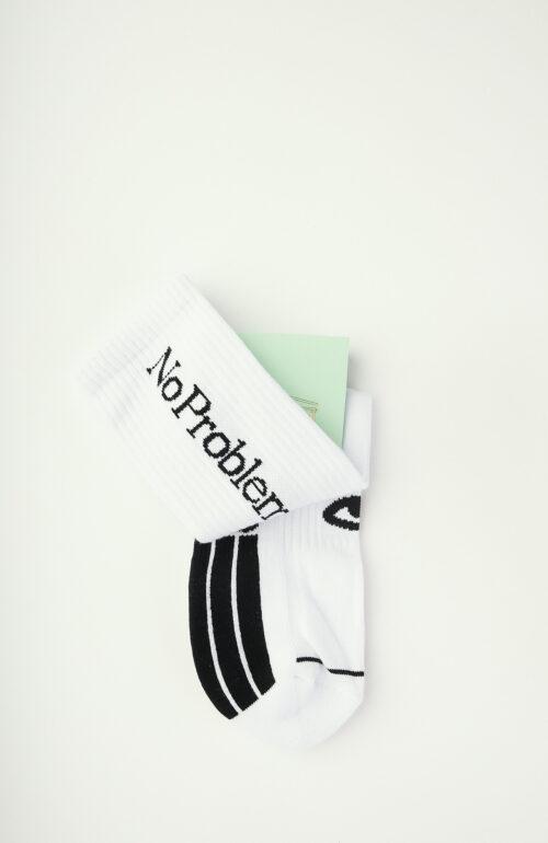 """Weiße Socken """"No Problemo"""""""