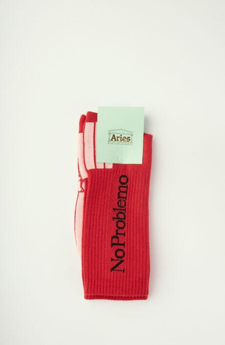 """Rote Socken """"No Problemo"""""""