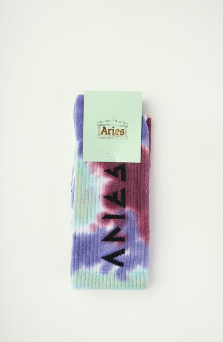 """Blau-grüne Socken """"Rune"""" in Tie-Dye-Optik"""