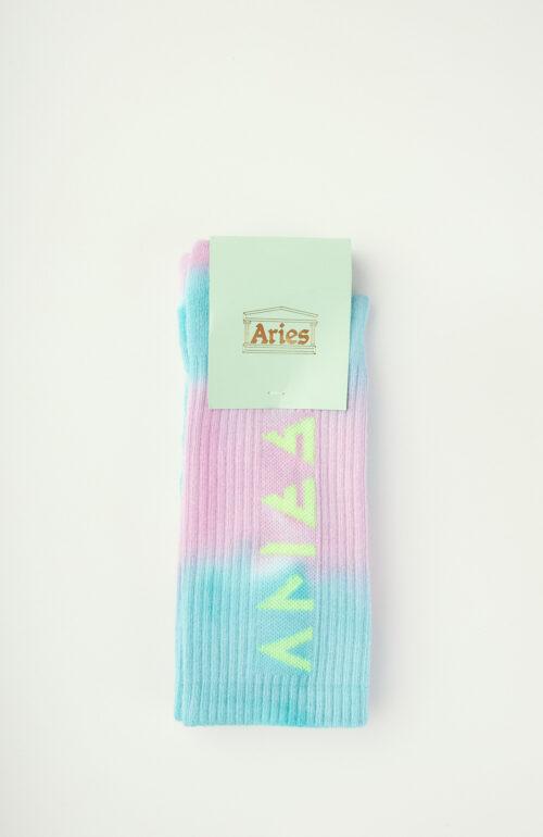 """Blau-rosa Socken """"Rune"""" in Tie Dye-Optik"""