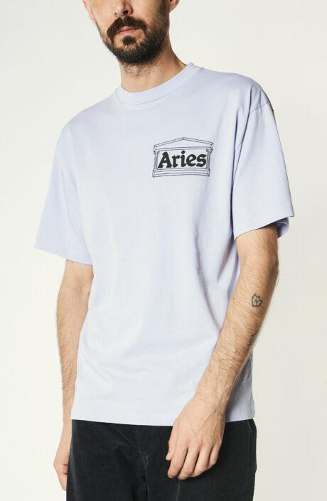 """Fliederfarbenes T-Shirt """"Info Trouble"""""""