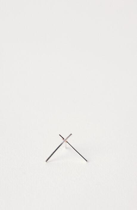 "Ohrringe ""Wire Cross Big"" in Silber"