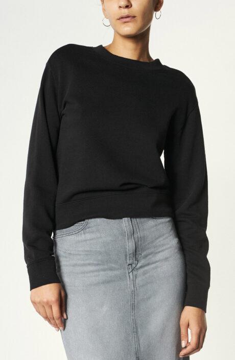 """Sweater """"Essential Shrunken"""" in Schwarz"""
