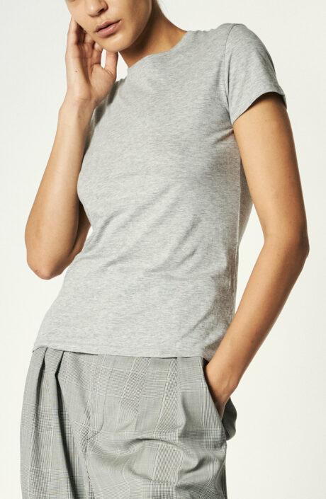 "T-Shirt ""Essential Pima Cotton Crew"" in Hellgrau"