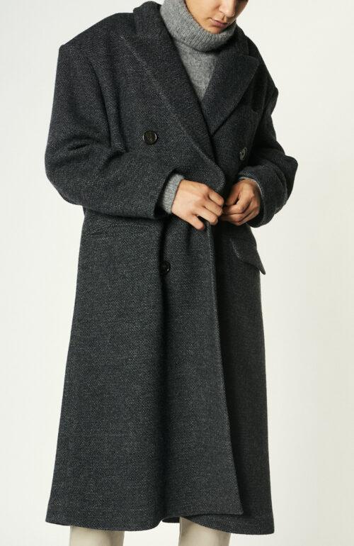 """Anthrazitgrauer Mantel """"Lojima"""" aus Wollmix"""