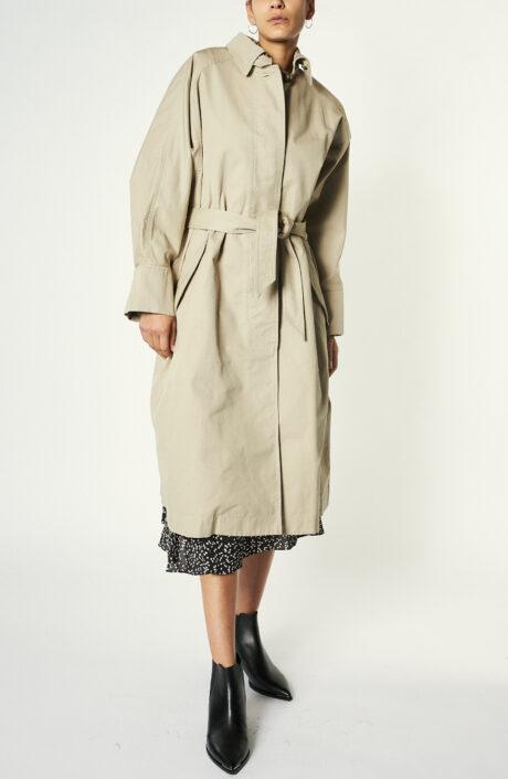"Beigefarbener Trenchcoat ""Arlo"" aus Baumwolle"