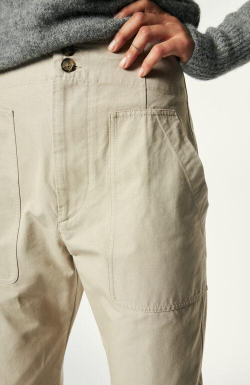 """Beigefarbene Hose """"Pralunia"""" aus Baumwolle"""