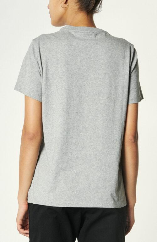 Graues T-Shirt aus Baumwolle mit Print