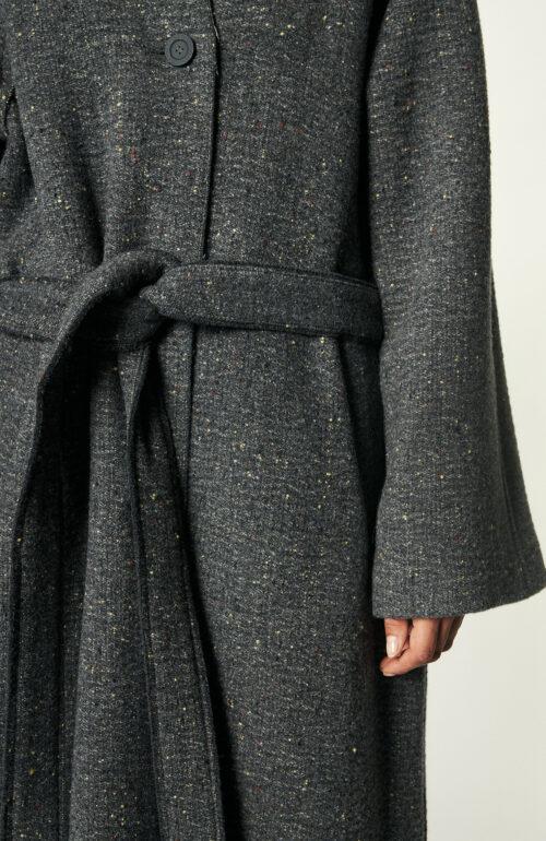 Grauer Mantel aus Wollmix