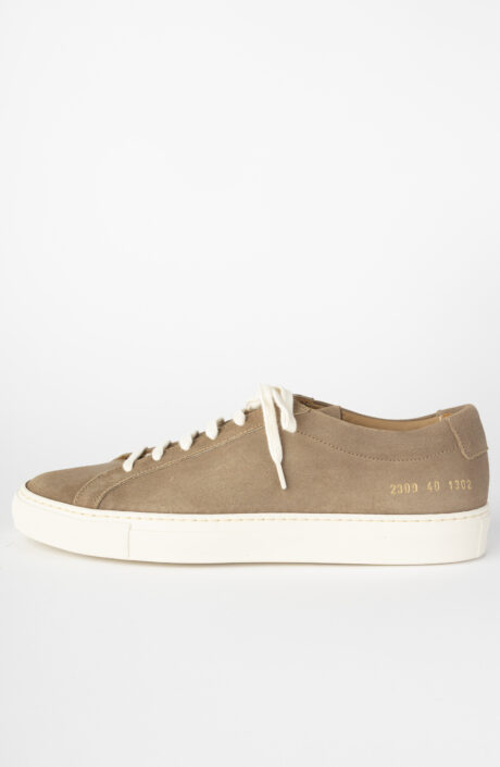 Sneaker Achilles nubuck low tan 2309