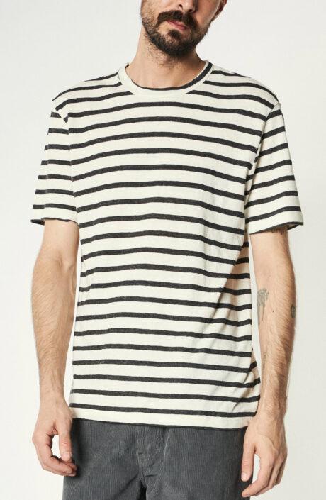 Beige-grau Gestreiftes T-Shirt
