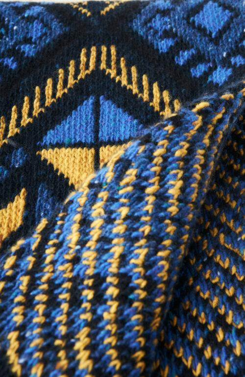 "Blau-gelber Schal ""Bebo"""